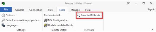 Remote Utilities for Windows