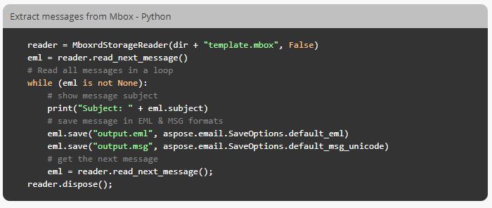 Aspose Email for Python via  NET